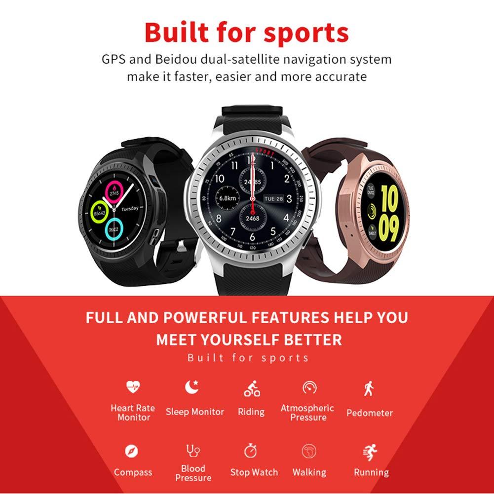 Kivors Reloj Inteligente L1 Bluetooth Smartwatch 1.3 Pulgadas Redondo HD IPS Pantalla Soporte SIM/TF Tarjeta con Podómetro Monitor de Dormir y Presión ...
