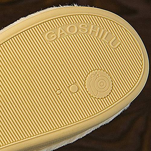 Blanc L'accouchement Noir couleur Sac Coton Maison 40 La Intérieur Pantoufles Td Femme À Polaire Lune Épais Anti Après dérapant En Taille Enceinte 39 Fond Chaussures qSRxxwH