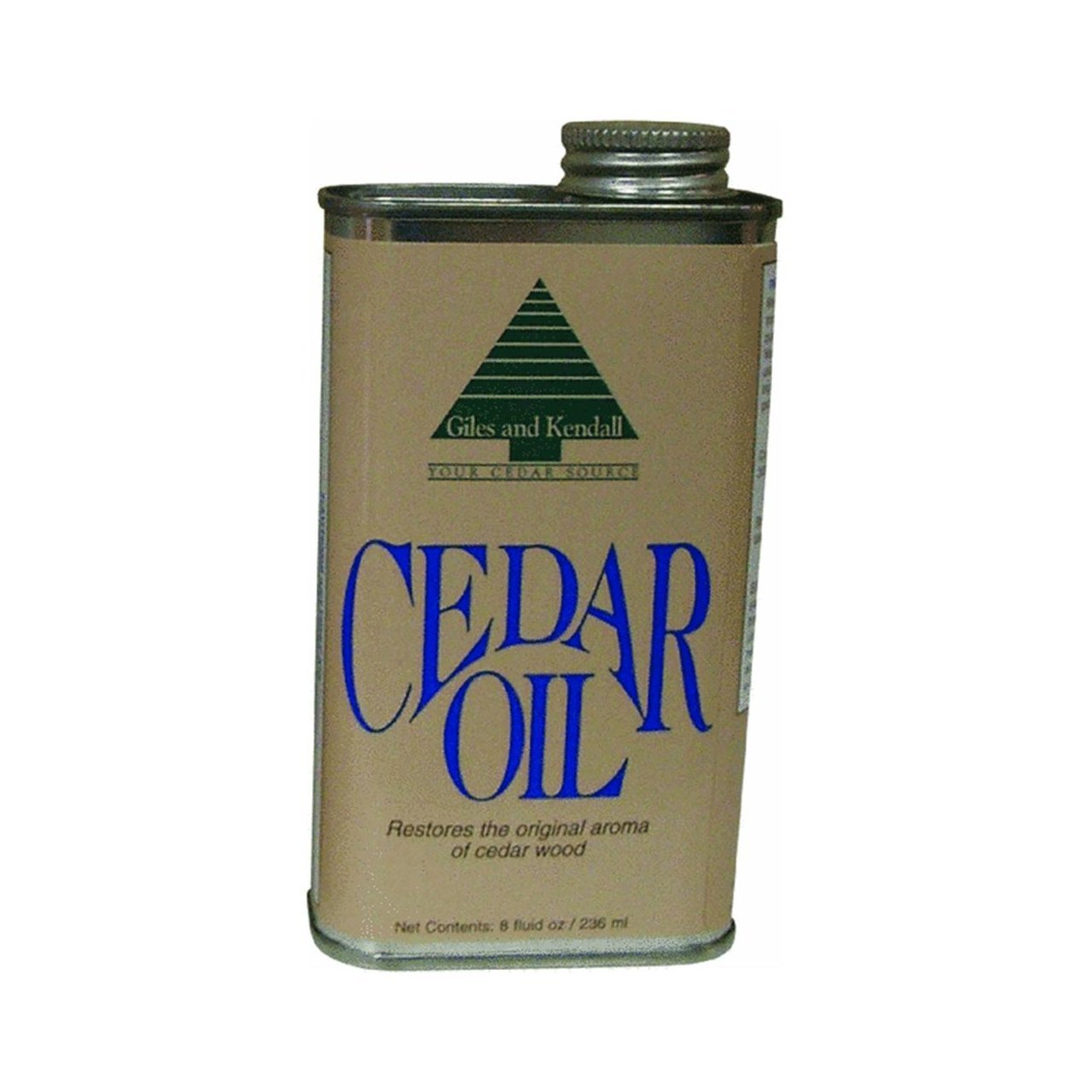 Giles and Kendall Cedar Oil Restores the Original Aroma of Cedar Wood, 8 Fluid oz / 236 ml - 2 Pack
