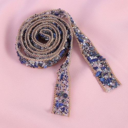 Assetto Da 1 Il Te Di Fai Merletto Strass Borse Applique Da Cucire Cristallo Rilievo Rosenice Per Fusciacca Scarpe E Nastro Abbellimenti Perle Metri In Bling Vestito Cappelli Assetto Su Blu blu Cintura Di URdxqZ