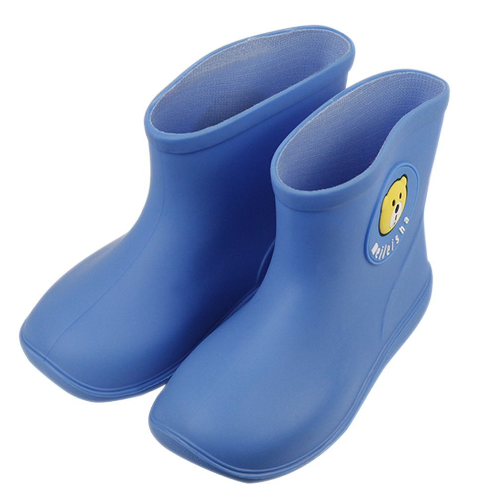 iFANS Kids Candy Color Cute Cartoon Waterproof Rubber Rain Boots