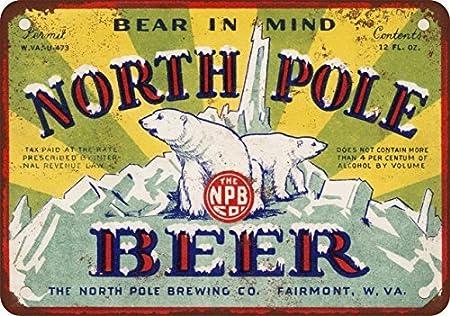 1934 polo norte cerveza reproducción de aspecto Vintage Metal ...