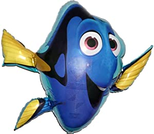 "Award Winning 30"" FINDING DORY Zero-Gravity Balloons Hover & Drift in Mid-Air with""NO STRINGS ATTACHED""! FUN for all Ages! Includes Weights for Easy Height Control. The""HIT of your DISNEY PARTY!"""