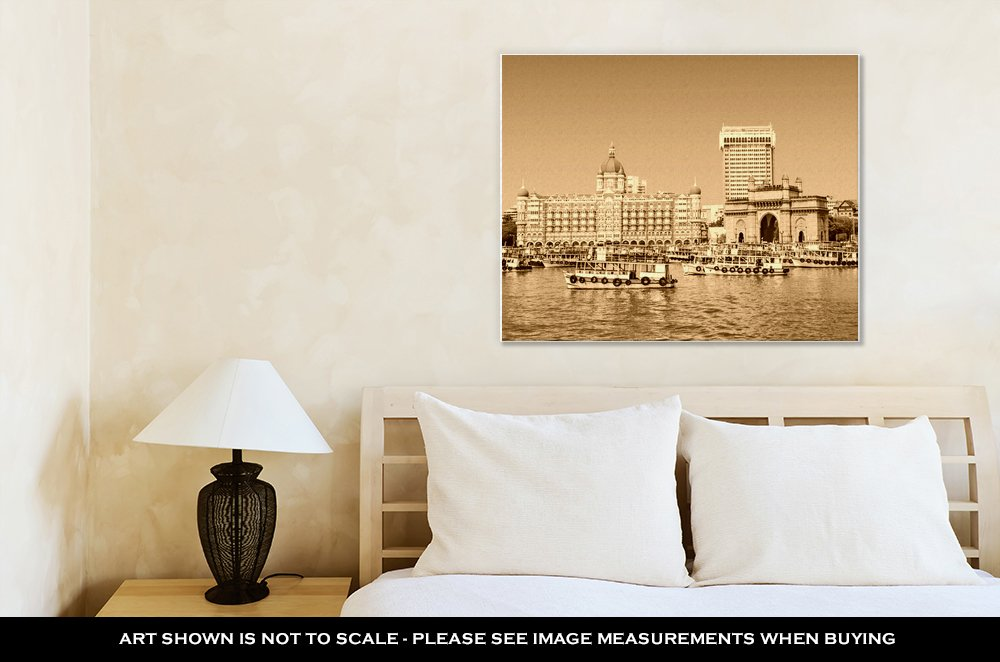 Ashley Canvas Taj Mahal Hotel And Gateway Of India, Home Office, Ready to Hang, Sepia 20x25, AG5933896 by Ashley Canvas (Image #2)