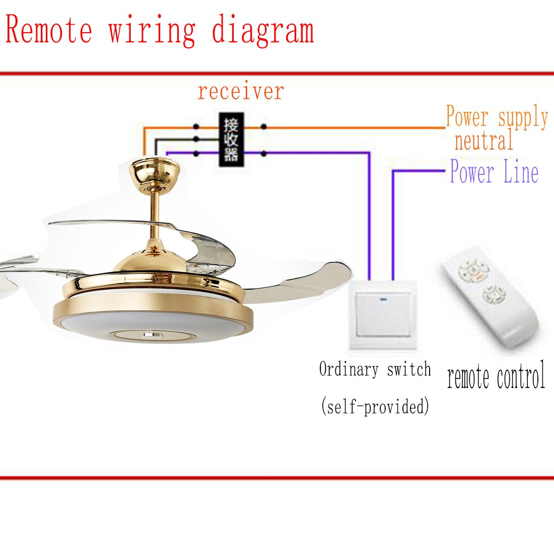 42 Inch Ceiling Fan Lights With Bluetooth Speaker And Remote Control Chandelier Dimmer Wiring Diagram Modern 7 Color