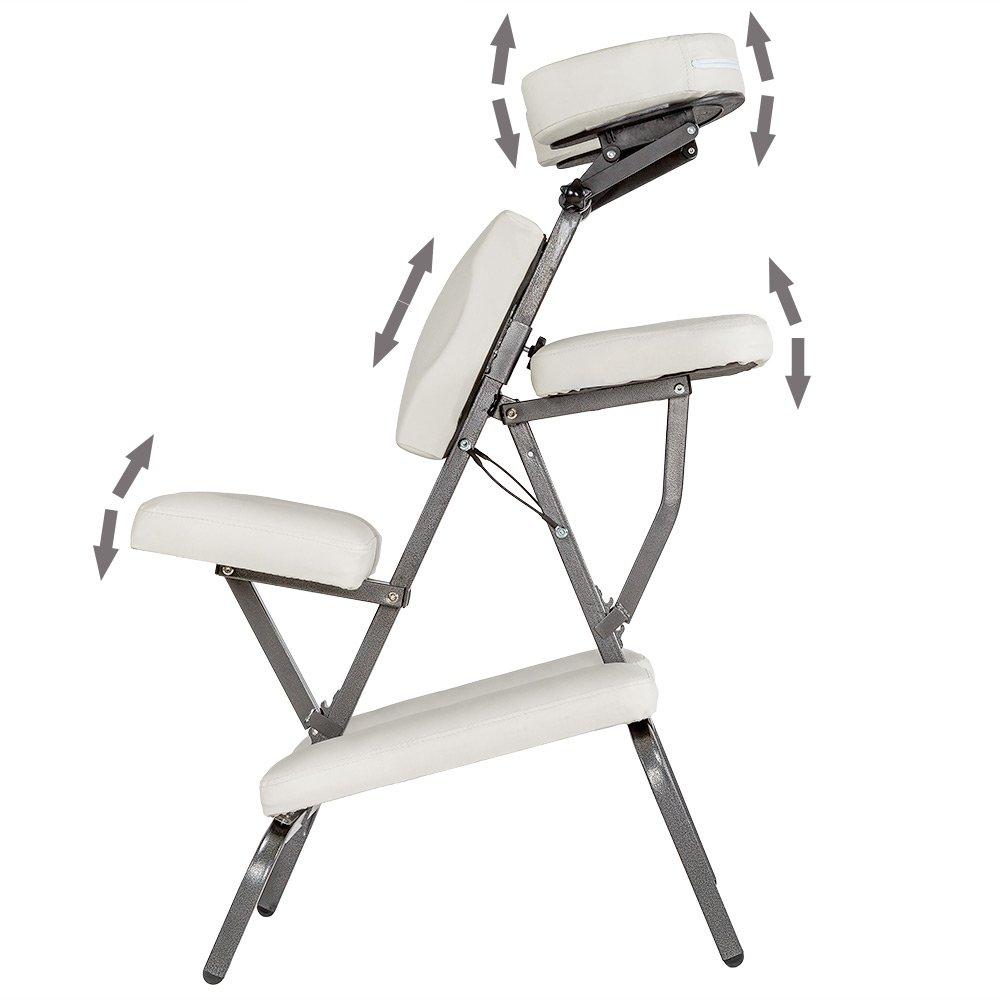 diverses couleurs au choix TecTake Chaise de Massage avec Sac de Transport Noir