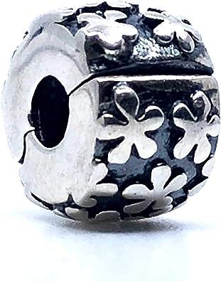 Sterling Silver Charms 1 Abalorio de Seguridad con Cierre de Clip. Plata de Ley 100% Fabricado en España, Compatible Pulseras Tipo Pandora, Swarovski, chamilia, etc. 1 Unidad: Amazon.es: Joyería