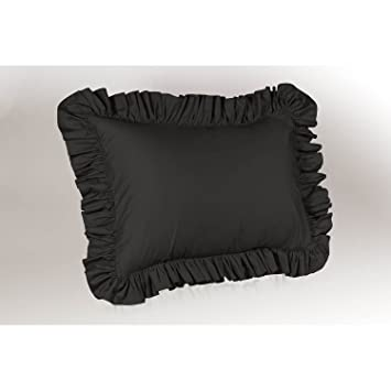 harmony lane ruffled pillow sham king size black shams target white matelasse ivory