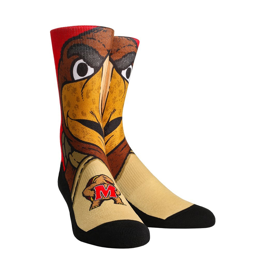 NCAA Maryland Terrapins Custom Athletic Crew Socks