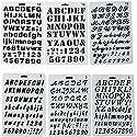 buorsaのセット6プラスチックステンシル番号と文字スケールテンプレートセットアルファベット文字図面ペイントステンシルスケールテンプレートのスクラップブック、カード、クラフトプロジェクト