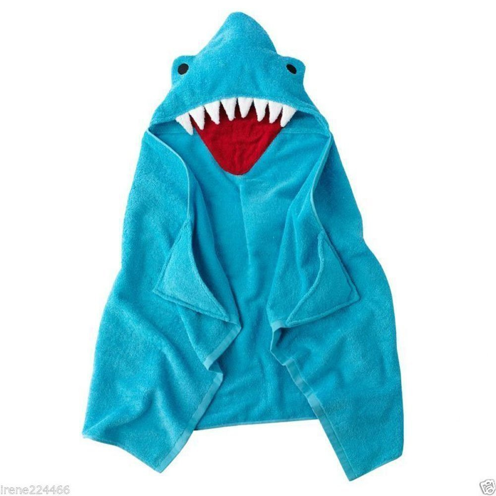 Jumping Beans Shark Bath Wrap Hooded Beach Towel COMINHKR027040