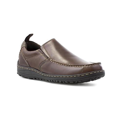 Hush Puppies - Zapato de cuero, sin cordones, para hombre, en marrón Hush Puppies - Talla 9 UK / 43 EU - Marrón: Amazon.es: Zapatos y complementos