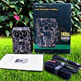 TEC.BEAN Waterproof 12MP 1080P HD Game & Trail Hunting Camera with 36 Pieces 940nm IR LEDs