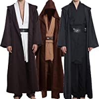 Wecos Adult Halloween Jedi Costume Tunic Robe Outfit Three Versions