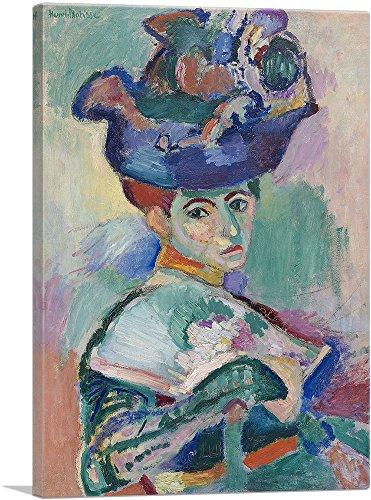 ARTCANVAS Woman with a Hat 1905 Canvas Art Print by Henri Matisse- 40
