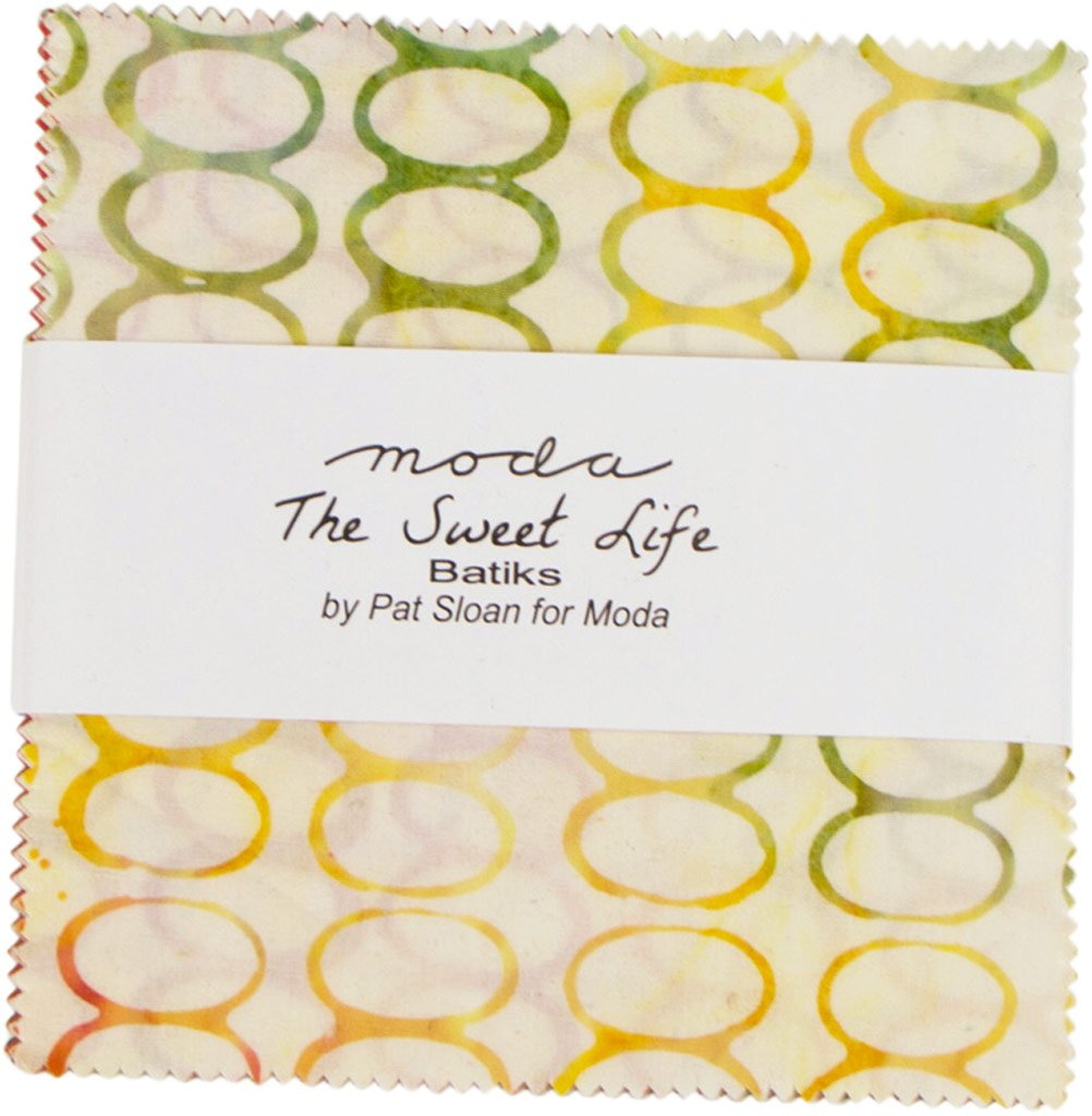 Pat Sloan Sweet Life Batiks Charm Pack 40 5-inch Squares Moda Fabrics 43057PP