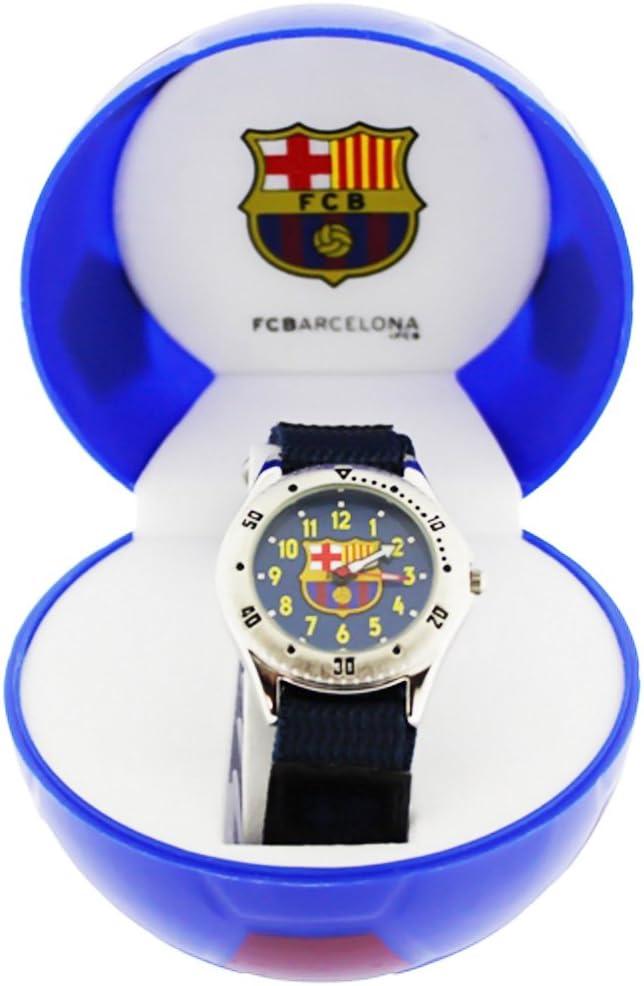 FC Barcelona – Reloj analógico infantil con fondo azul, con caja ...