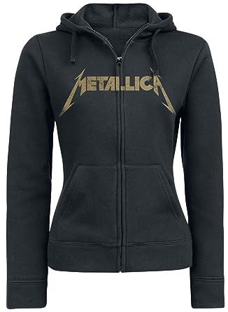 Unbekannt Metallica Hetfield Iron Cross Guitar Girl-Kapuzenjacke schwarz:  Amazon.de: Bekleidung