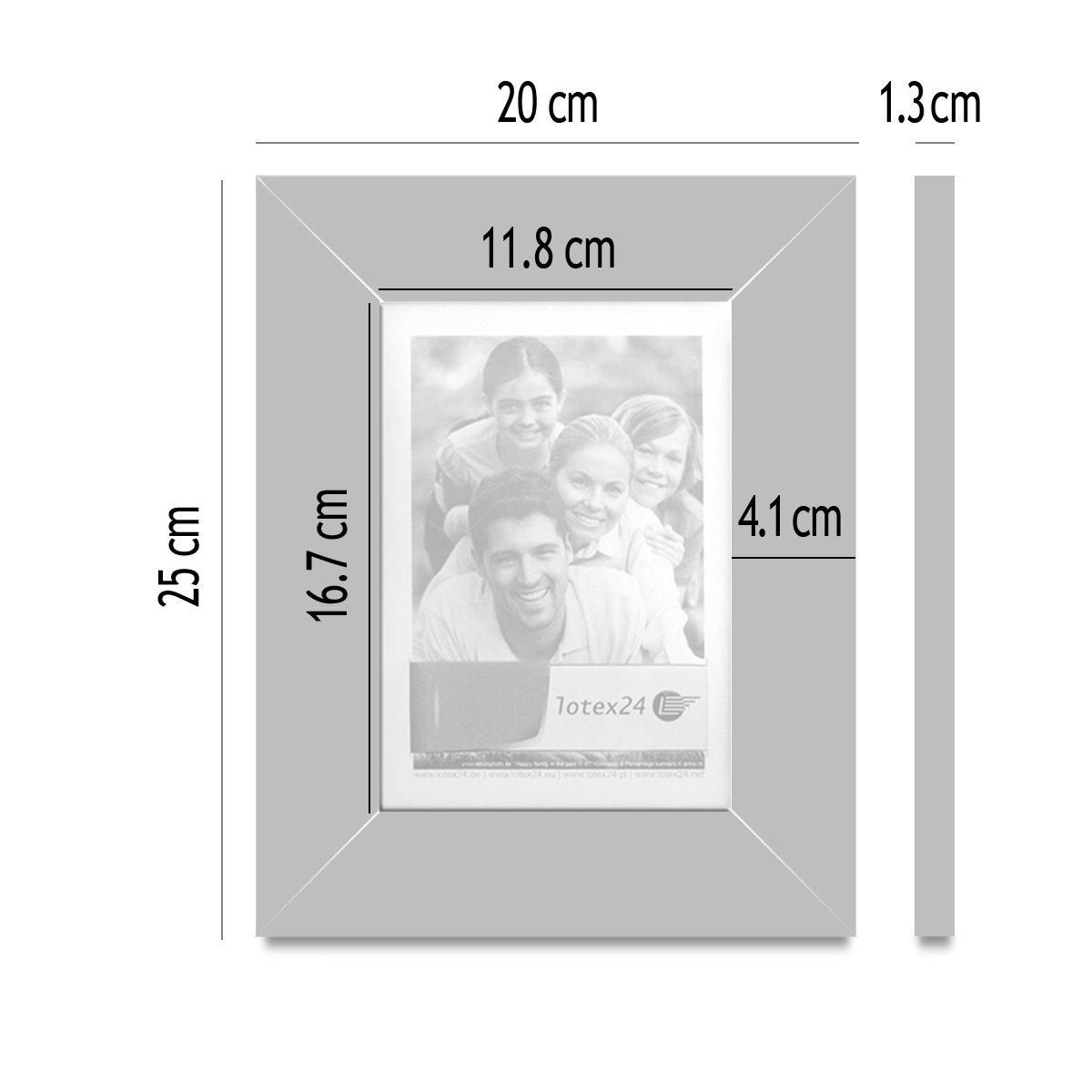 Bilderrahmen 20 x 25 cm Türkis blau Rahmen für Bildformat 13 x 18 cm ...