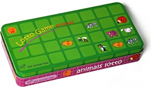 The Purple Cow Lotto Animals Game for Toddlers & Preschoolers. Fun Animal Matching Game. Develop Face & Object Recognition Skills