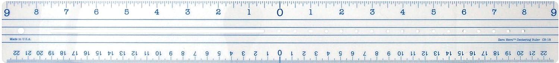 Acme C-Thru Plastic Zero Centering 18-Inch Ruler ACME United Corporation CR-18