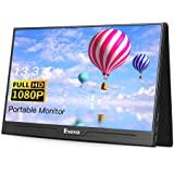 "Eyoyo 13.3"" inch Portable HDMI Monitor Second Screen Monitor for Laptop PC 1920x1080 with USB-C & HDMI Inputs Compatible with Smartphone, HDMI Gaming Consoles"