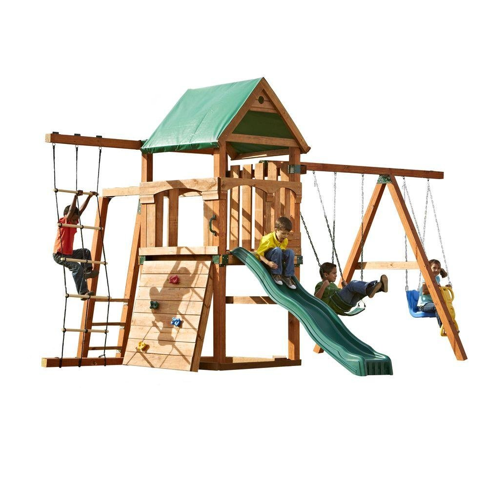 amazon com bighorn play set add 4x4 u0027s and slide home improvement