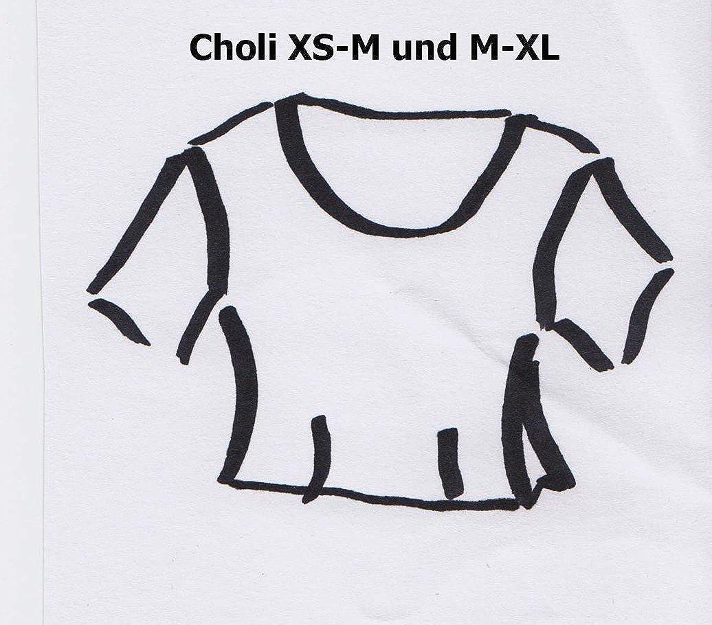 Maha Ranis sari Blusas patrón choli lehenga choli (Tallas XS - XL con paso a paso instrucciones, Weiß, 36/38: Amazon.es: Ropa y accesorios