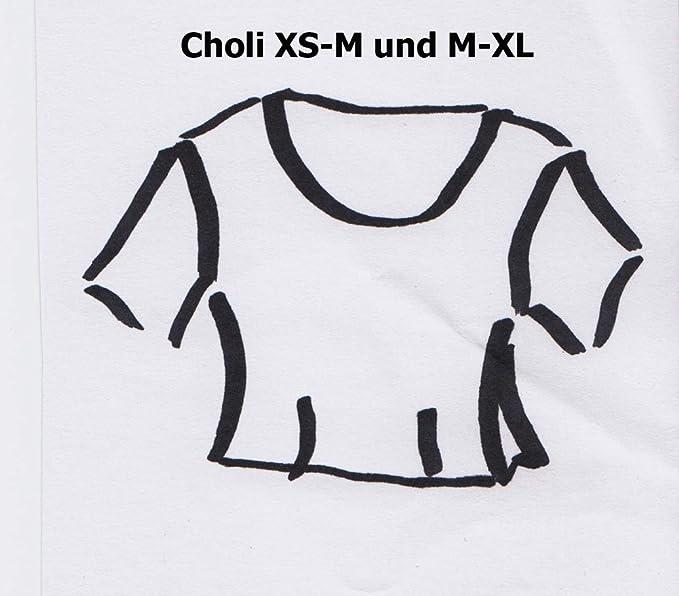 Maharanis Sari Blusen Schnittmuster Choli Lehenga Choli Gr. XS-XL ...