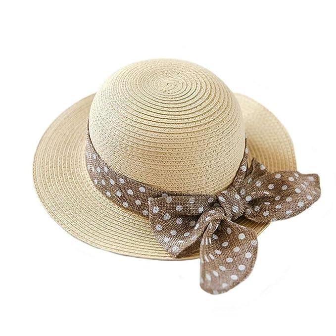linkey Niñas sombrero de paja de ganchillo tejido triby Cubo de ...