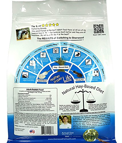 Pictures of Sherwood Pet Health Rabbit Food Adult 10 6