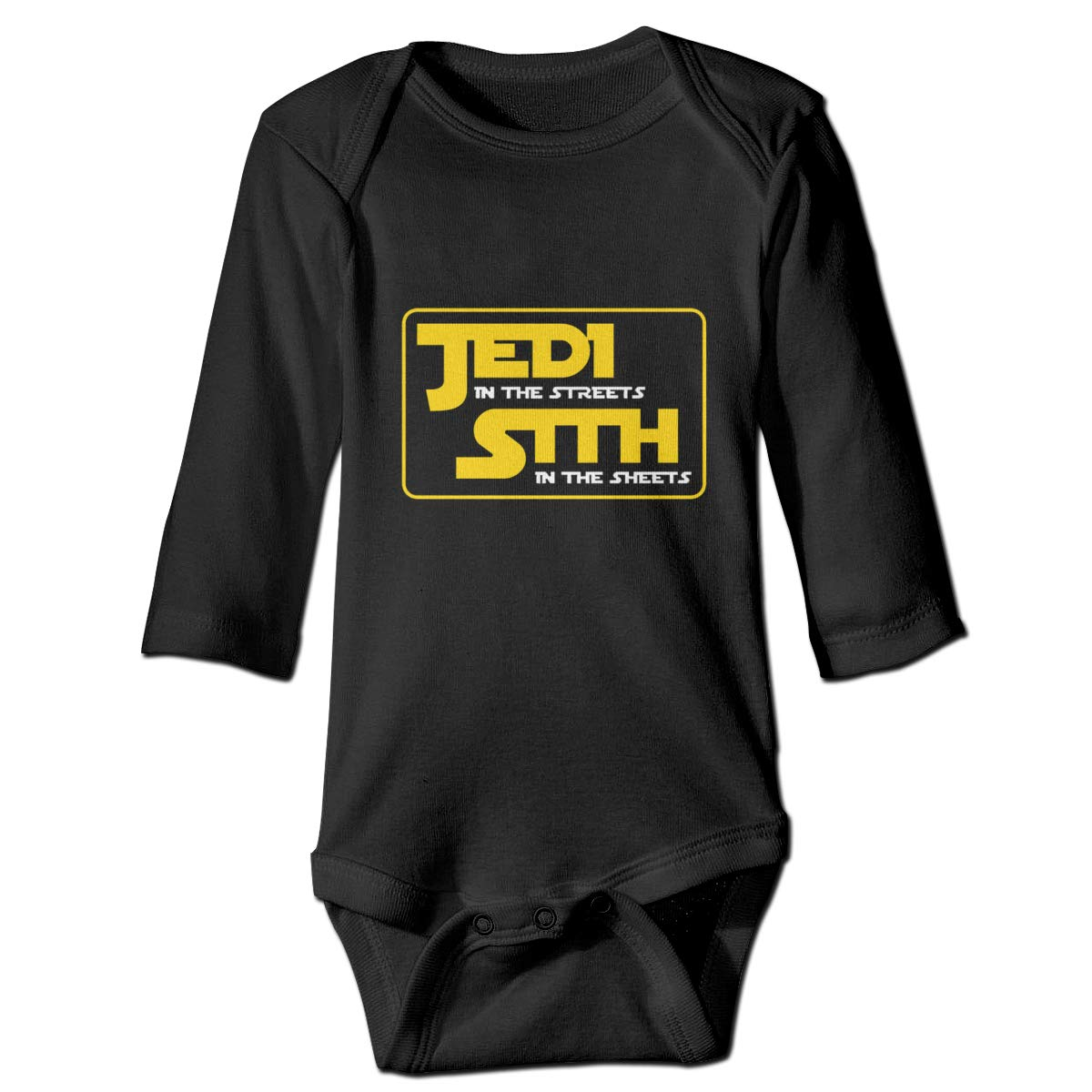 Jedi in The Streets Long Sleeve Baby Romper