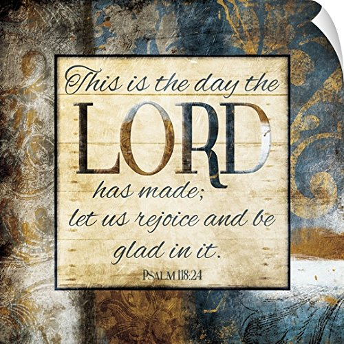 Jace Grey Wall Peel Wall Art Print entitled Let Us Rejoice