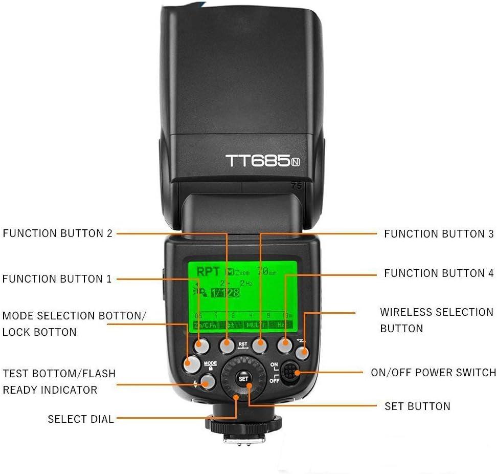 WQYRLJ Flash TTL HSS Camera Flash Speedlite High-Speed Synchronization of Camera-Top Flash Photography Light Outside Shooting for Nikon D7500 D850 D500 D4