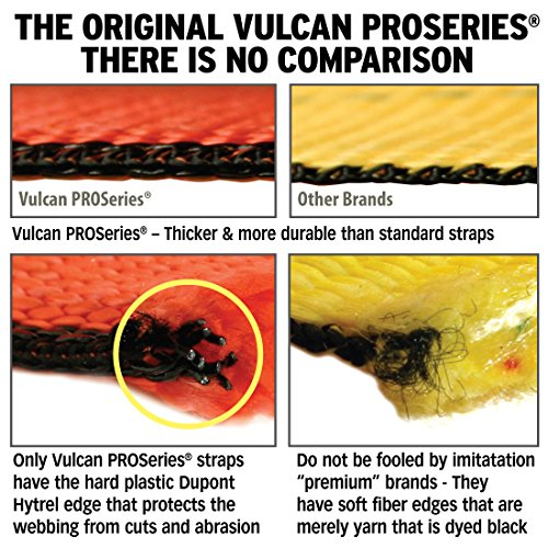 Vulcan ProSeries 1-Ply Flexible Axle Tie Down Combo Strap w/ Snap Hook Ratchet (2'' x 102'' - Pack of 4) Safe Working Load - 3,300 lbs. by Vulcan Brands (Image #2)