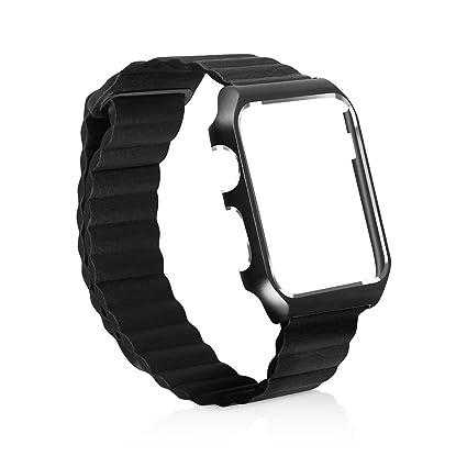 Amazon.com: Apple Smart aleación de acero reloj de piel Band ...