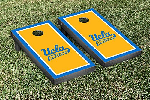 California Los Angeles UCLA Bruins Cornhole Game Set Border Version by Victory Tailgate