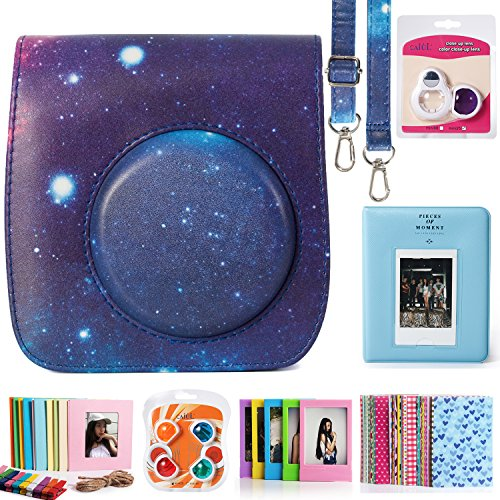 CAIUL 7 in 1 Galaxy Pattern Fujifilm Instax Mini 25 26 Camera Accessories Bundle