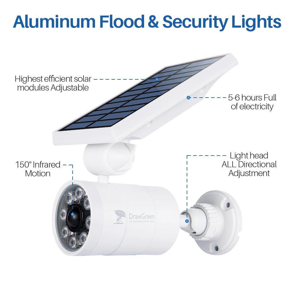 Solar Motion Sensor Lights Outdoor Aluminum,1400LM Warm White LED Spotlight 9-Watt 130W Equ. Solar Security Lights for Garden Driveway Patio, 2-Year Battery Life,160-Week 100 Replacement Guarantee