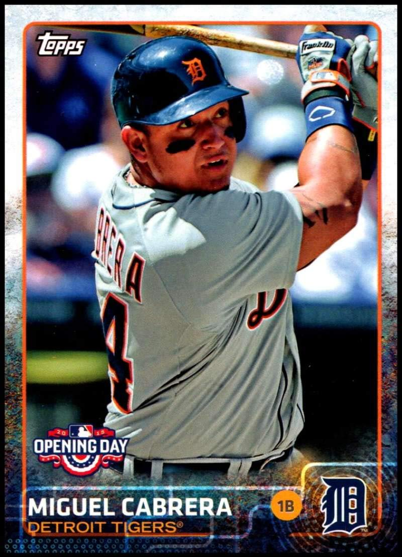 2015 Topps Opening Day #20 Miguel Cabrera NM-MT Detroit Tigers