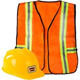 Construction Worker Costume For Kids - Construction Costume - Construction Hat and Costume Vest by Funny Party Hat