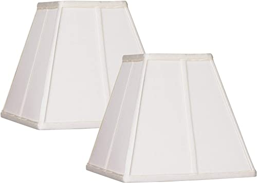 Set of 2 Ivory Classic Square Shades 5.25x10x9 Spider – Springcrest