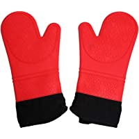 Gugule Silicone Oven Mitts Professional Food Grade Silica Gel Oven Mitts,Large Grilling Cooking Gloves,Pot Holders with…