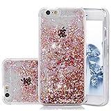 iPhone SE Case, Liquid Case, Asstar Fashion Creative Design Flowing Liquid Floating Luxury Bling Glitter Sparkle Diamond Hard Case for iPhone SE, iPhone 5, iPhone 5S