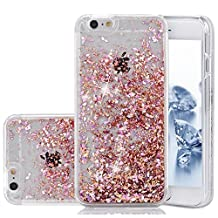iPhone SE Case, Liquid Case, Asstar Fashion Creative Design Flowing Liquid Floating Luxury Bling Glitter Sparkle Diamond Hard Case for iPhone SE, iPhone 5, iPhone 5S