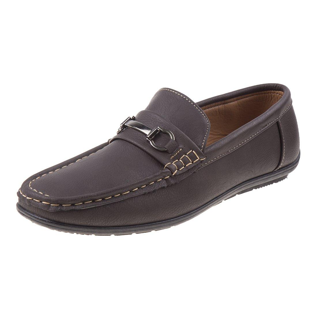 Joseph Allen Men's Slip on Loafer Dress Shoe, Brown, 12 D(M) US'