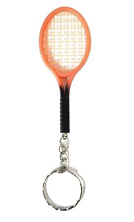 Raqueta de tenis llavero pesca (Peach Tennis Racket Keyring ...