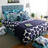 Amy Butler Dream Daily Twin Duvet Cover - 100% Organic 300 Thread Count