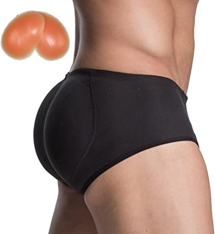 Men/'s Boxer Panties Hip-up Buttom Enhancer Shaper Pads Briefs Underpant M-2XL
