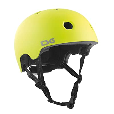 TSG Meta Skate & Bike Helmet in Satin Acid Yellow w/Dial Fit System | for Cycling, BMX, Skateboarding, Rollerblading, Roller Derby, E-Boarding, E-Skating, Longboarding, Vert, Park, Urban : Sports & Outdoors [5Bkhe1804484]